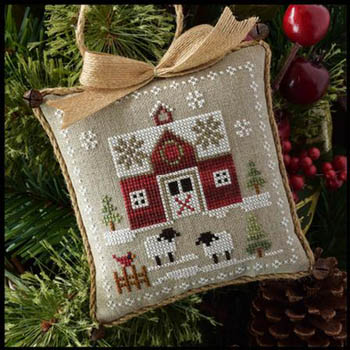 Farmhouse Christmas Part 1 Little Red Barn Pattern from Little House Needleworks