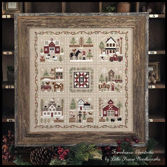 Farmhouse Christmas Part 5 Grandmas Quilt Pattern from Little House Needleworks