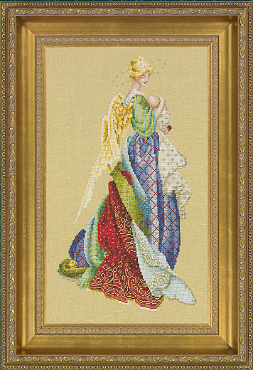 In the Arms of an Angel Cross Stitch Pattern by Lavender & Lace LL47
