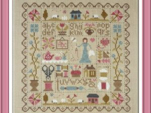 Patchwork de la Brodeuse Cross Stitch Pattern by Jardin Prive FT53-EN