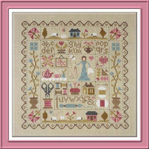Patchwork de la Brodeuse Cross Stitch Pattern by Jardin Prive FT53-EN