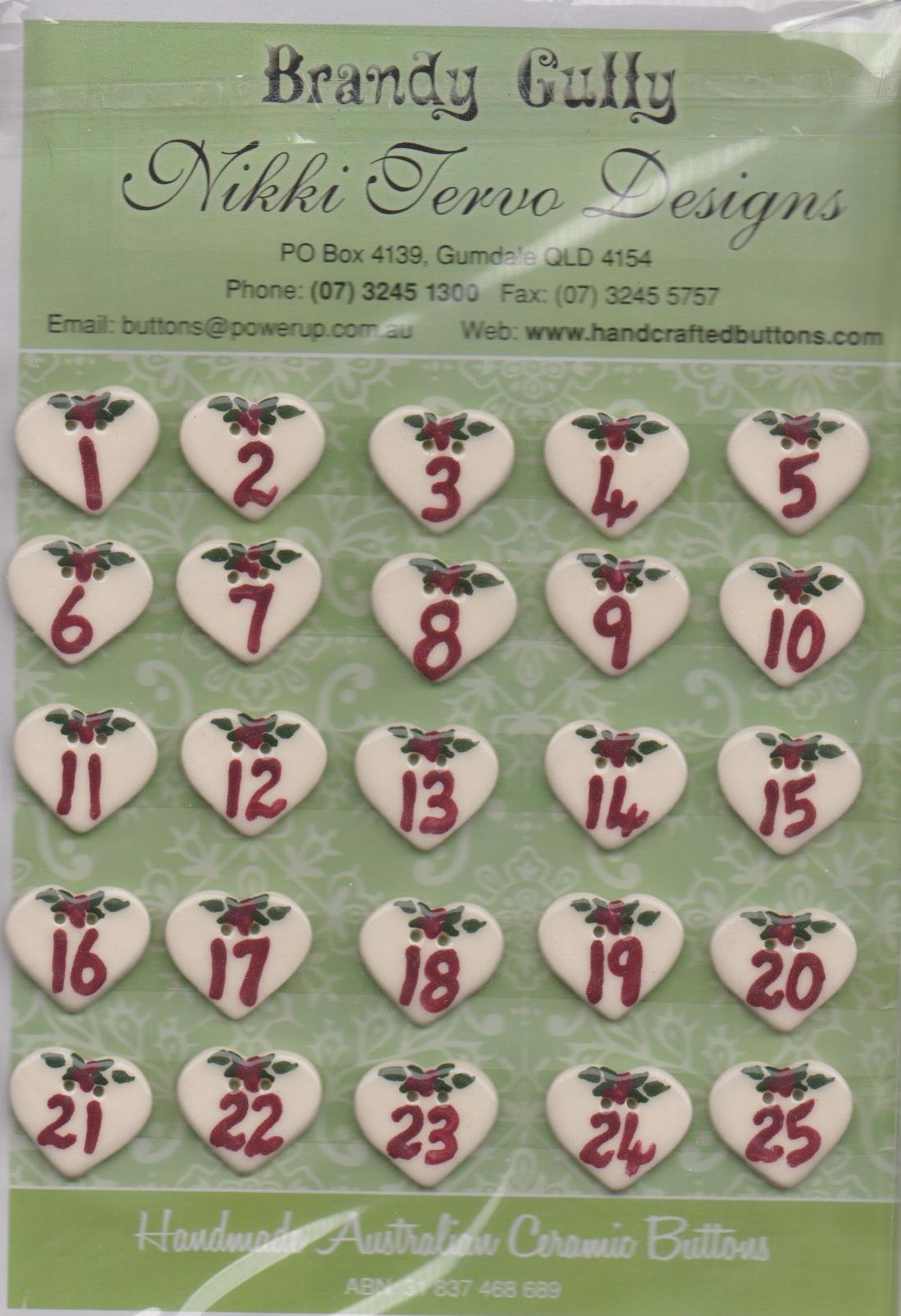 Advent Stocking Pattern with Buttons by Nikki Tervo from Brandy Gully