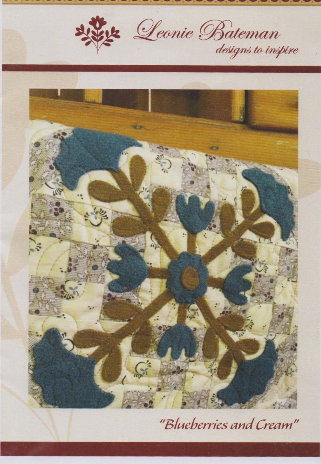 Blueberries and Cream Table Topper Kit from Leonie Bateman Designs