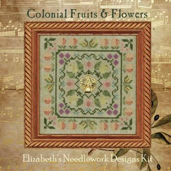 Colonial Fruits & Flowers kit by Elizabeth's Needlework Designs