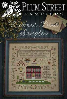 Crowned Bird Sampler Cross Stitch pattern by Plum Street Samplers