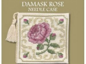 Damask Rose Needlecase Cross Stitch Kit from Textile Heritage