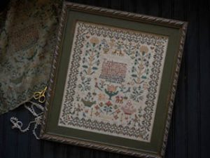 Elizabeth Sarah Oliver 1842 Sampler from Plum Street Antiques Cross Stitch Pattern
