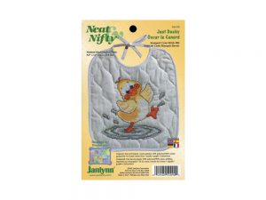 Just Ducky Baby Bib Stamped Cross Stitch Kit from Janlynn 54-0090