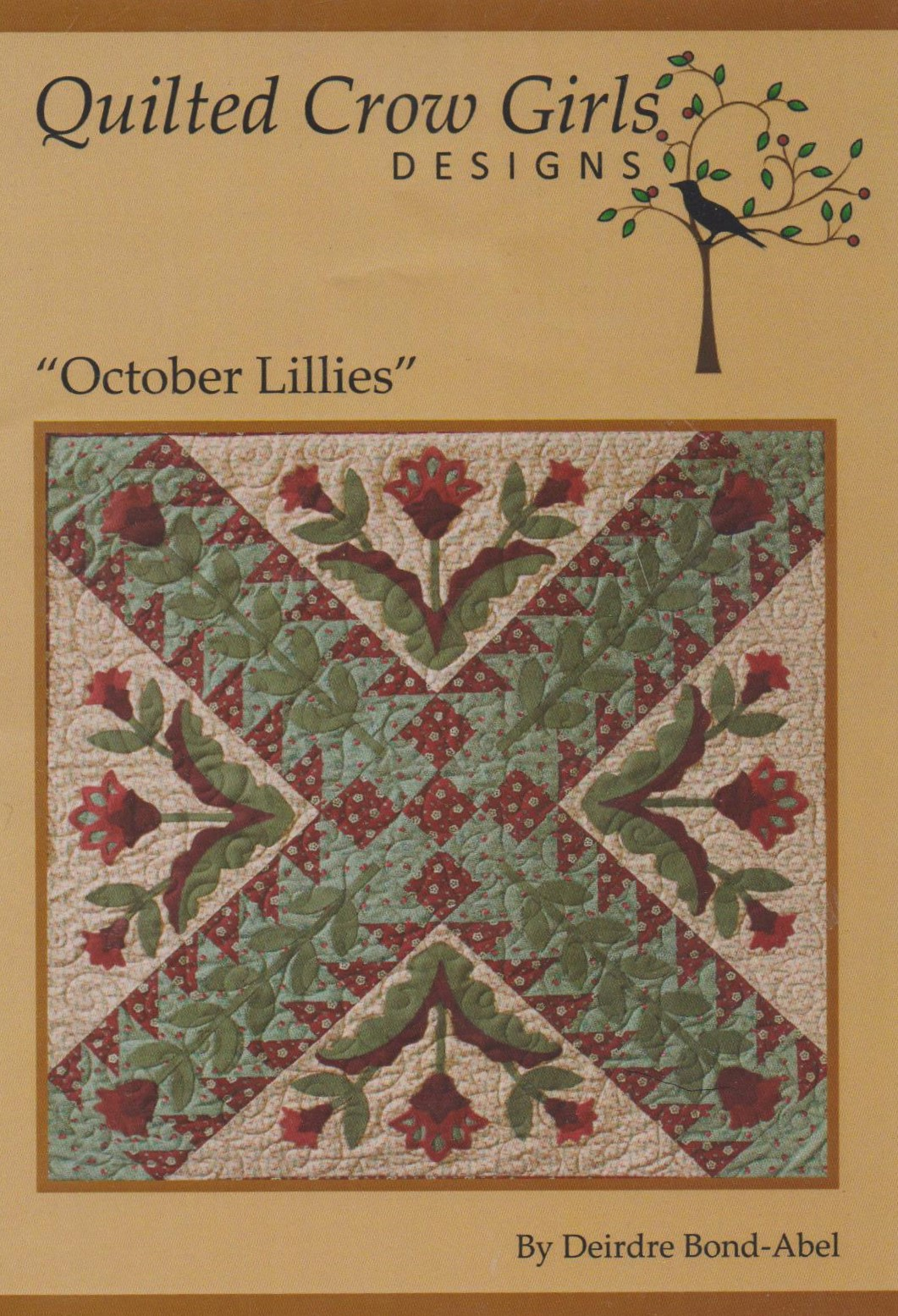 October Lillies Pattern and Fabrics from Quilted Crow Girls