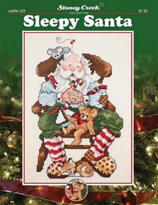 Sleepy Santa Cross Stitch Pattern from Stoney Creek leaflet 225