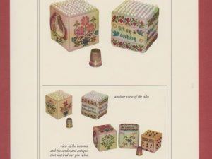 A Pair of Pin Cubes Cross Stitch Pattern from with my Needle