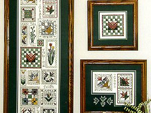 Tulip Quilt Sampler Cross Stitch Pattern from Rosewood Manor 05-2193