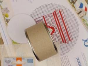 Arc de Triomphe Off White Sajou Box Cross Stitch Kit