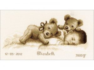 Baby Sleeps Record Cross Stitch Kit by Vervaco V0143730