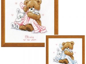 Bear with Blanket Cross Stitch Kit by Vervaco V0011901