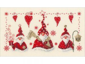 Cheerful Santa Cross Stitch Kit by Vervaco VO148065