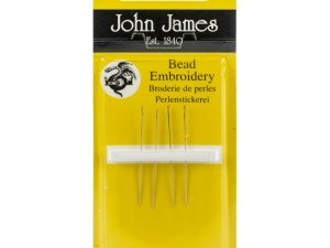 Sharp Point Bead Embroidery Needles Short Size 12 from John James