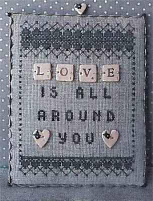 Love- Scrabble 1 Cross Stitch Pattern from Puntini Puntini