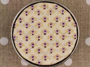 Mignonnette Motif Purple Round Box Cross Stitch Kit by Sajou