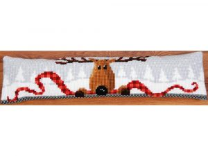 Reindeer Draft Stopper Cross Stitch Kit by Vervaco VO147913