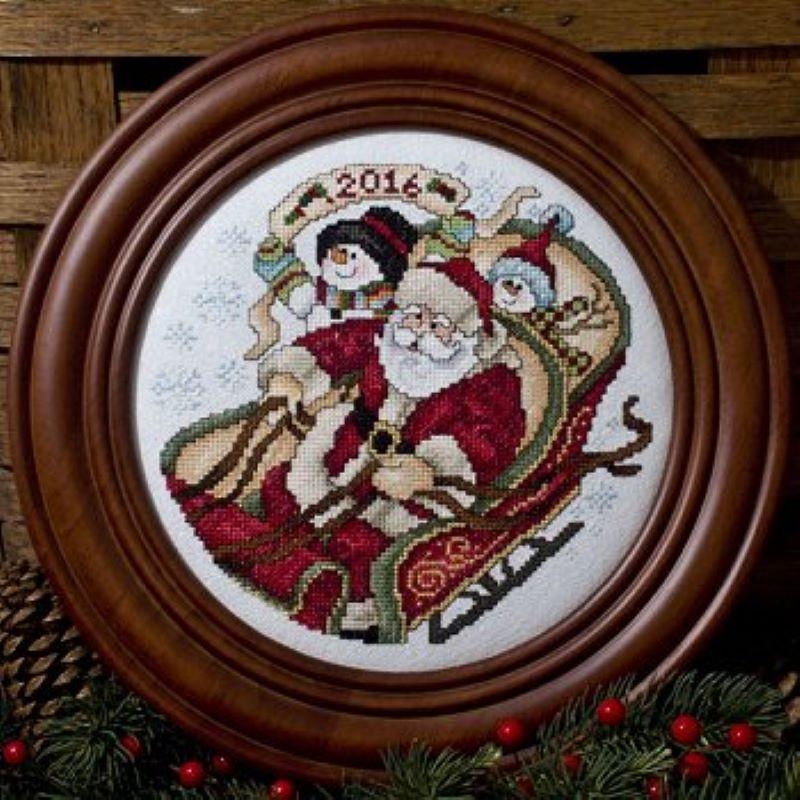 Santa Claus Lane Cross Stitch Pattern by Stoney Creek Book 500