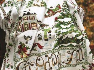 Christmas Village Afghan Cross Stitch Pattern by Stoney Creek Book 517