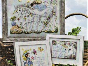 Unicorn Dreams Cross Stitch Pattern by Stoney Creek Book 525