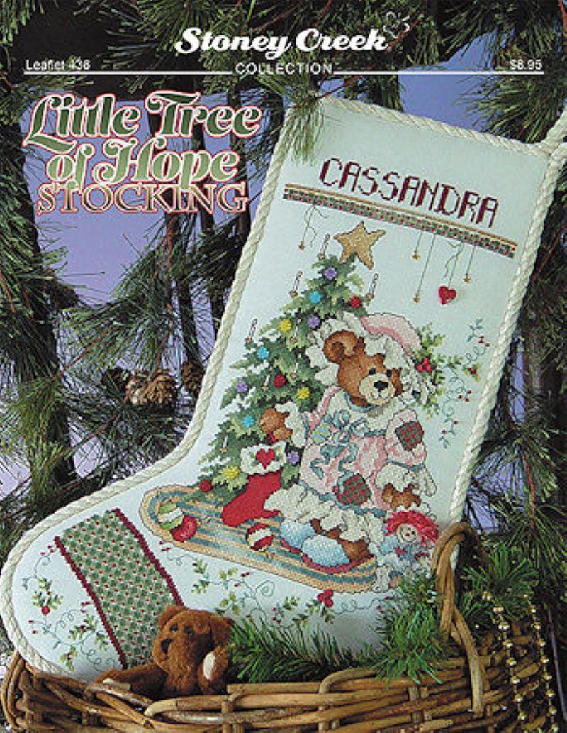 Little Tree of Hope Stocking Cross Stitch Pattern by Stoney Creek Leaflet 436