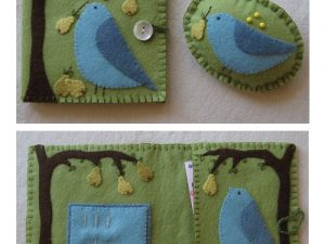 Pear Tree - Needlecase and Pincushion Pattern by Marg Low