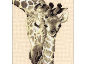Giraffe Family Cross Stitch Kit by Vervaco VO012183