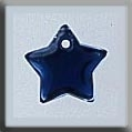 Glass Treasure 12173 Small Flat Star Royal Blue 9mm