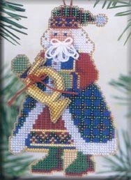 French Horn Santa Ornament Mill Hill Kit MH MS12