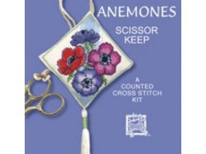Anemones Scissor Keep Cross Stitch Kit from Textile Heritage