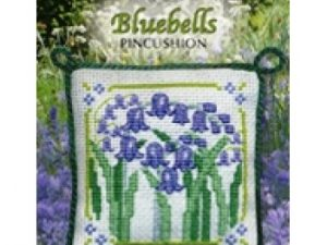 Bluebells Pincushion Cross Stitch Kit from Textile Heritage