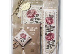 Damask Rose Gift Pack Cross Stitch Kit from Textile Heritage