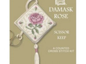 Damask Rose Scissor Keep Cross Stitch Kit from Textile Heritage