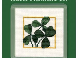 Irish Shamrock Coaster Cross Stitch Kit from Textile Heritage