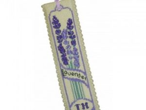 Lavender Bookmark Cross Stitch Kit from Textile Heritage