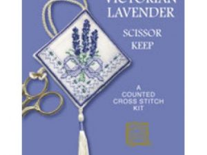 Victorian Lavender Scissor Keep Cross Stitch Kit from Textile Heritage