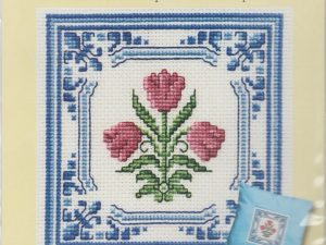 Delft Tulips Picture or Cushion Panel from Textile Heritage