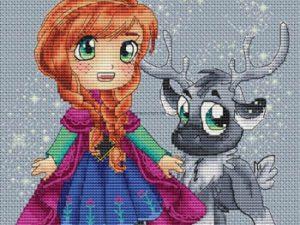 Anna and Sven Cross Stitch Pattern by  Les Petites Croix De Lucie