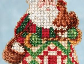 "Jim Shore ""Early Morning Santa"" Mill Hill Cross Stitch Kit JS20-5104"