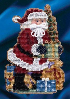 Merry Christmas Santa Ornament Beaded Mill Hill Kit MH20-4301
