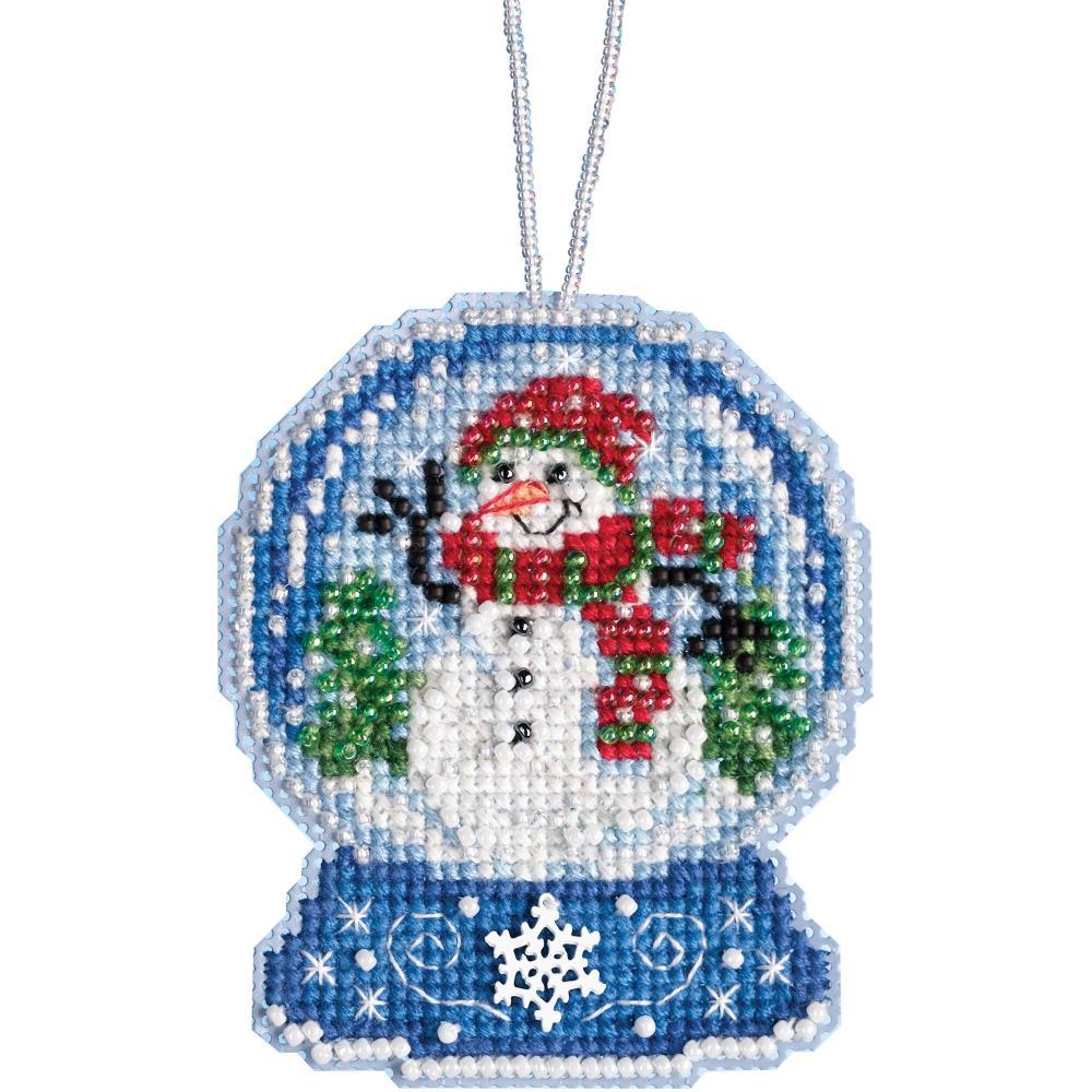 Snowman Snow Globe Ornament Mill Hill Kit MH16 1933