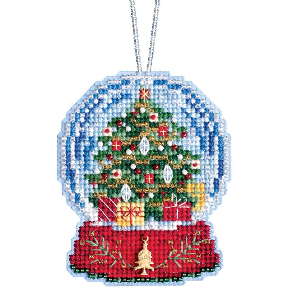 Christmas Tree Snow Globe Ornament Mill Hill Kit MH16 1936