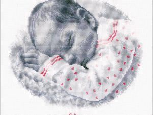 Sleeping Baby Cross Stitch Kit by Vervaco V0169612