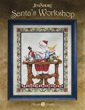 Santa's Workshop Cross Stitch Pattern by Jim Shore