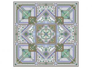 Winter Garden Square Cross Stitch Pattern by Carolyn Manning