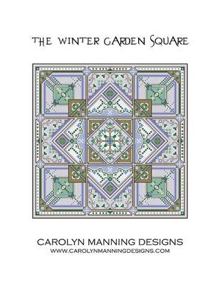 Winter Garden Square Cross Stitch Pattern by Carolyn Manning