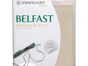 32ct Belfast Linen Platinum 48 x 68 cm Pack by Zweigart Z3609/770